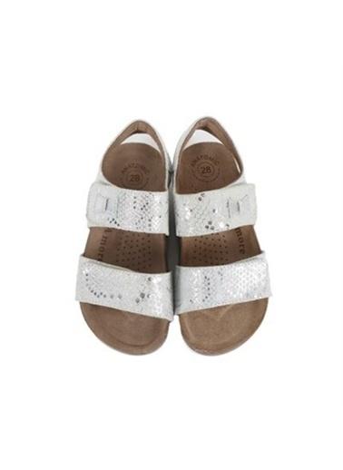 Kids A More Marla Çift Cırtlı Deri Kız Çocuk Sandalet  Gümüş